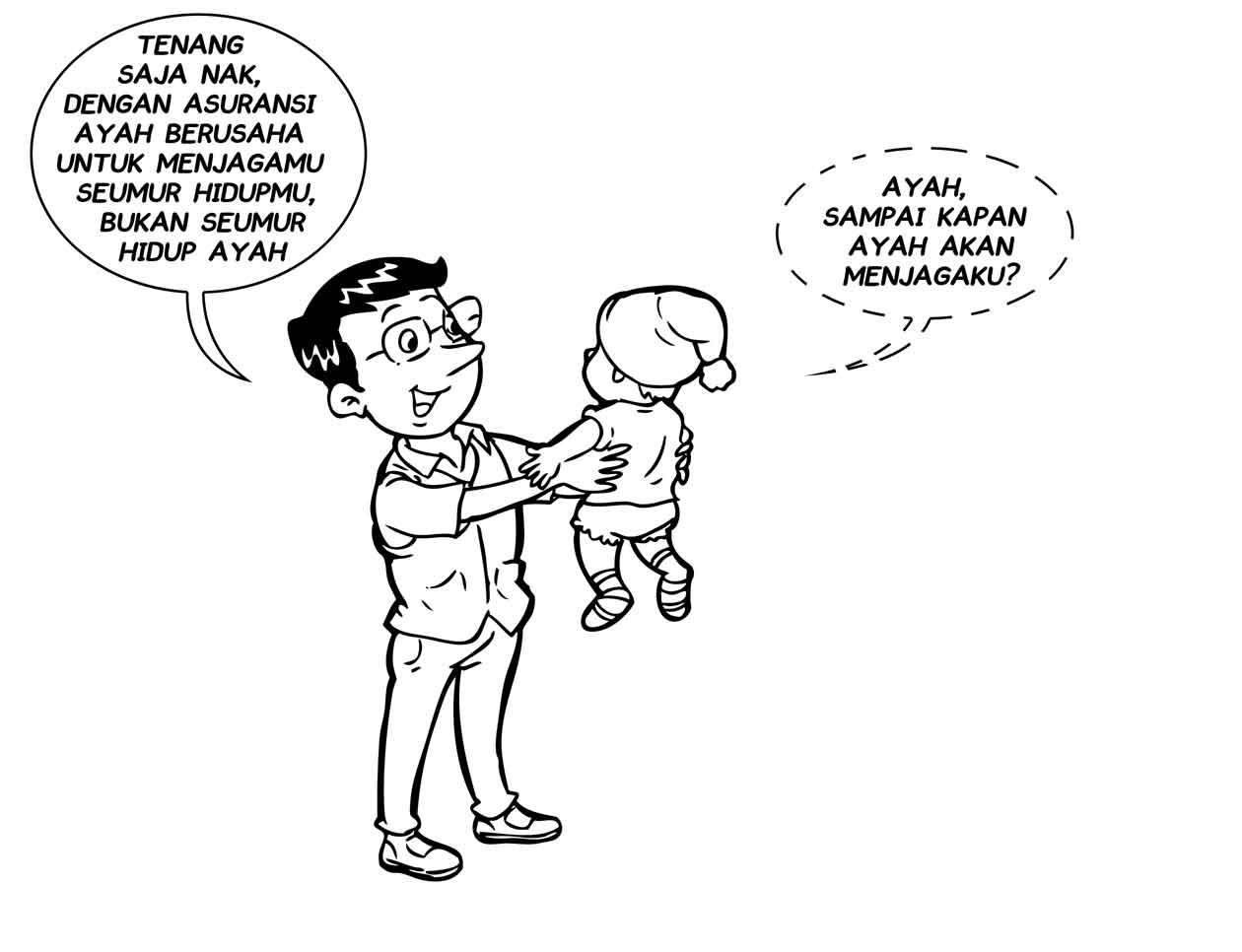 asuransi menjaga anak seumur hidup