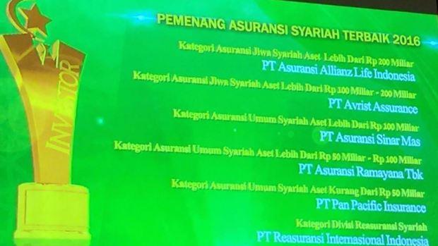 pemenang asuransi syariah terbaik
