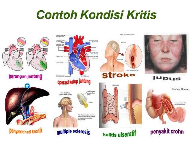 contoh kondisi penyakit kritis
