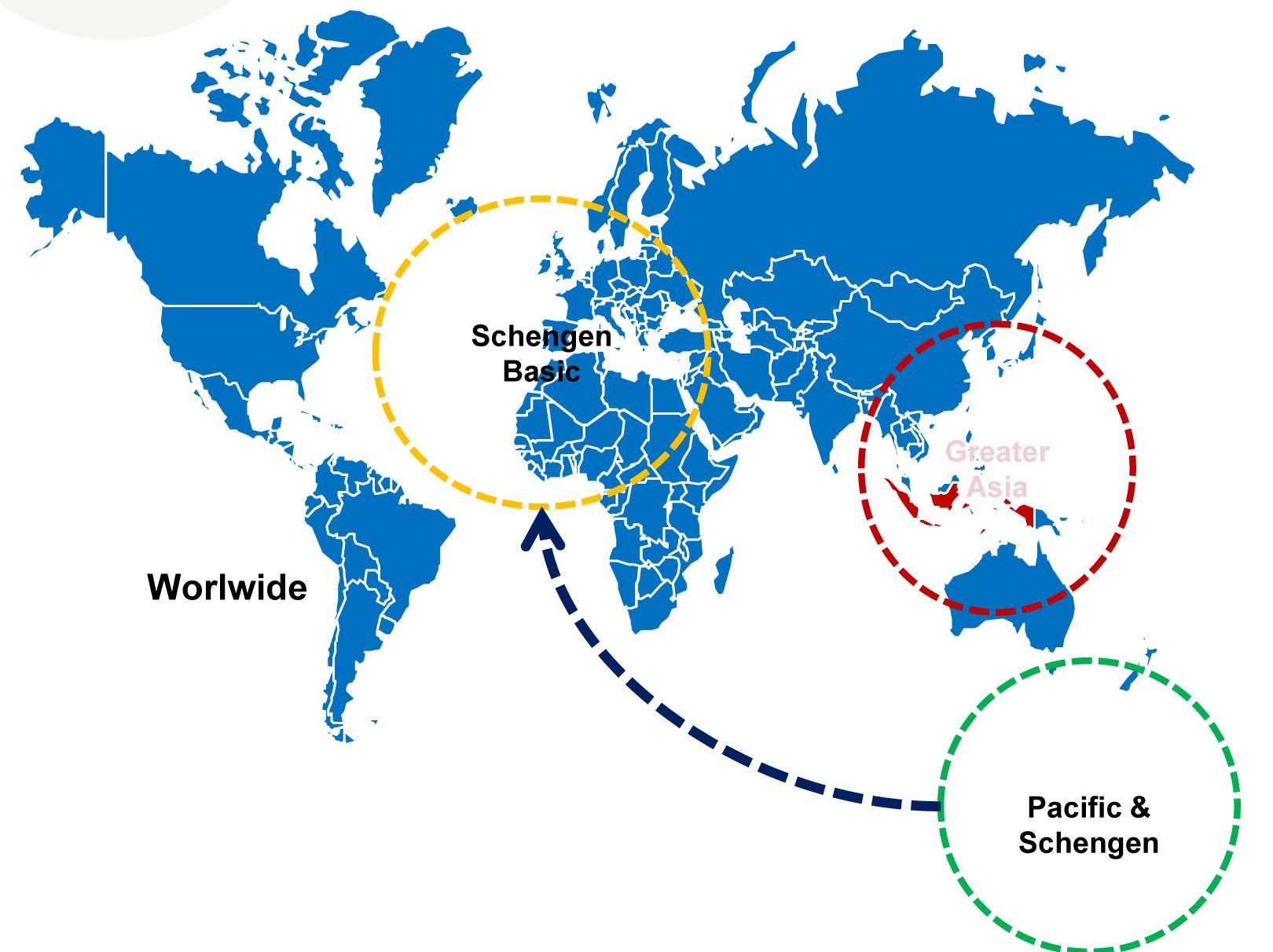 peta wilayah pertanggungan asuransi perjalanan syariah allianz